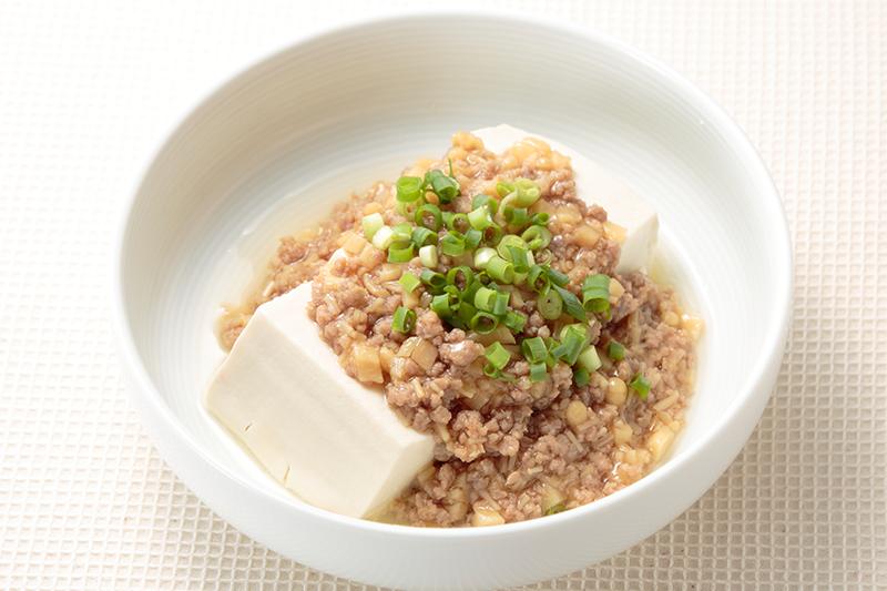 豆腐のそぼろあんかけ ー「肉そぼろ」を利用してー