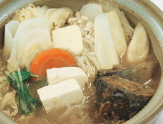 鯖の土手鍋風 ー「さば味噌煮」を利用してー