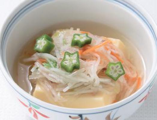 卵豆腐の野菜あんかけ ー「卵豆腐」「カット野菜」を利用してー